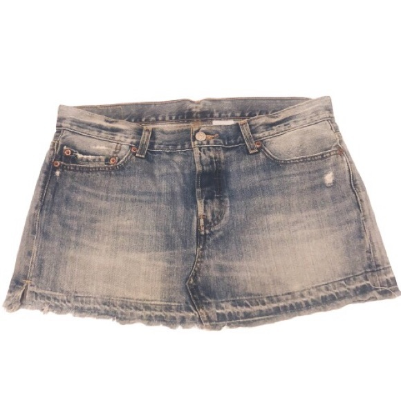 Levi's Dresses & Skirts - Levi's 501 ReDone Button Fly Mini Skirt  Size: 30W